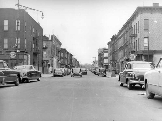Central Avenue looking east to Halsey Street, 1951