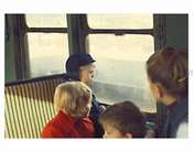 Children on the train 1970's