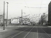 Church Avenue looking east toward Troy Avenue, 2-1-46
