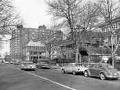 Clinton Avenue looking west near Willoughby Avenue 1964