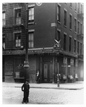 Close up shot of kid on corner of Varick & Moore Street - Tribeca  - Manhattan 1914