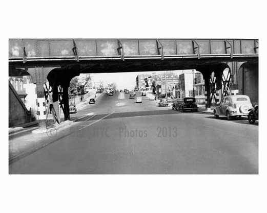 College point from LIRR overpass 1939 - Flushing - Queens NY