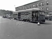 Coney Island Avenue PCC Trolley #1047 near Newkirk Avenue, 8-13-47