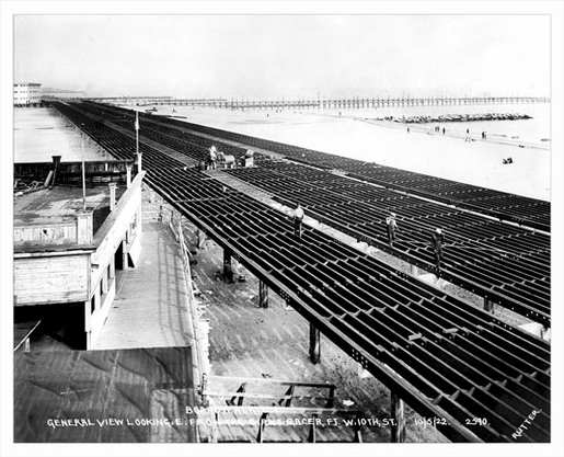 Coney Island Boardwalk Contruction 1922