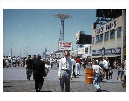 Coney Island Man on Boardwalk