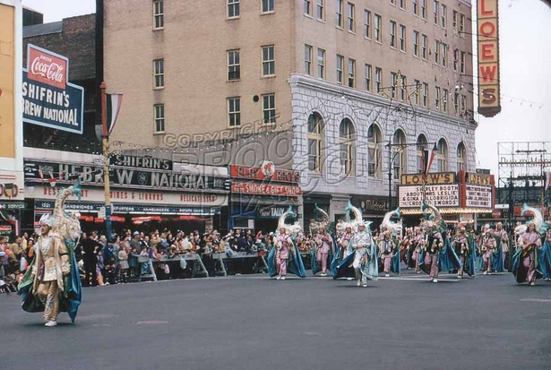 Coney Island Mardi Gras, predecessor of today's Mermaid Parade, 1954