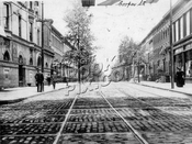 Cooper Avenue north from Broadway, 1906