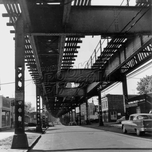 Crescent Street, looking south near Jamaica Avenue. Photo by Ron Ziel, 1959