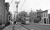 Crosstown Line trolley on Richards Street at Sullivan Street, 1941