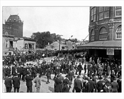 Crowds waiting to get in to Ebbets Field