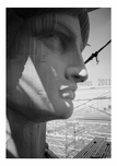 Detail of the profile right side of the face of the Statue of Liberty - May 1984