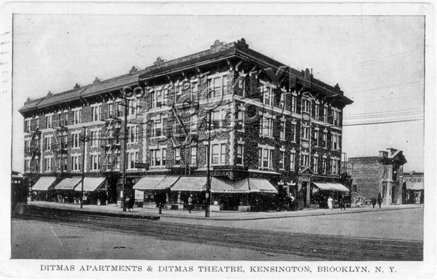 Ditmas Apartments & Ditmas Theater, 1912