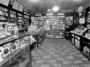 Drugstore interior at 5324 Church Avenue, 1930s
