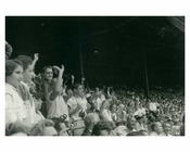 Early 1950's Brooklyn Dodgers fans at Ebbets Field
