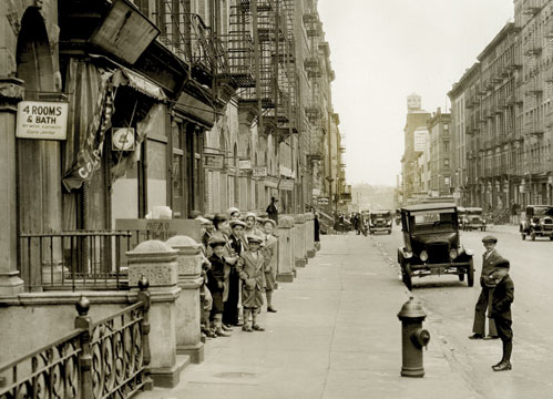 East 91 St. looking east near second Av. 1931