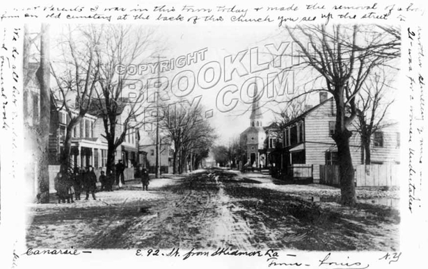 East 92nd Street looking south from Skidmore Lane, 1906