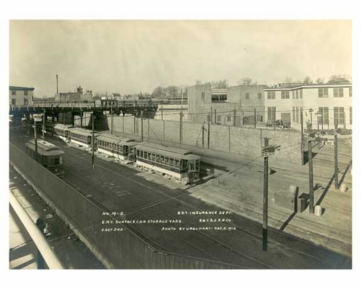East New York Depot Yard Dec 1915 3551 3527 3549 3531 Fulton Street Line 3502 Grand Street Shuttle