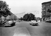 Eastern Parkway looking west at Saratoga Avenue and Sterling Place, 1957