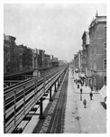 Elevated L Train Tracks - 2nd Avenue - Murray Hill Manhattan 1914 NYC