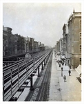 Elevated train platform looking at 2nd Ave 1914
