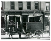"""Empire Overhaul Laundry"" Horse & wagon parked on Lexington Avenue - Upper East Side -  Manhattan NYC 1913"