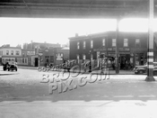 Evergreen Avenue looking southeast at Myrtle Avenue, 1940