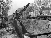 Excavation for the IRT Eastern Parkway Line, 1915
