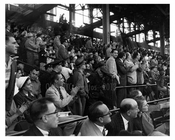 Fans cheer at the 1956 World Series at Ebbets Field - Brooklyn NY