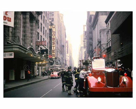 FDNY at work -  Midtown Manhattan 1960's