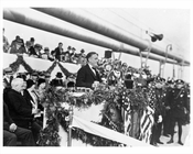 FDR Speaking at the Opening of the George Washington Bridge 1931
