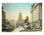 Fifth Avenue & the Plaza - Heckscher Building - General Sherman Statue - Hotel Plaza -  Midtown Manhattan