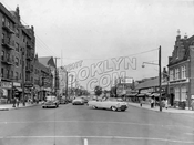 Flatbush Avenue looking north at Flatlands Avenue, 1957