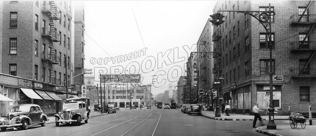 Flatbush Avenue Looking North To Maple Street 1943