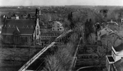 Flatbush Avenue, looking south from Dutch Reformed Church steeple at Church Avenue, 1877