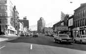 Flatbush Avenue looking south to Prospect Place and Seventh Avenue, 1964