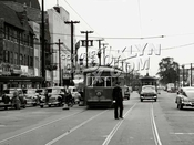 Flatbush Avenue north from Flatlands Avenue, 1949