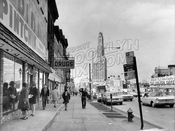 Flatbush Avenue, northwest from Bergen Street and Pintchik Paints, 1970