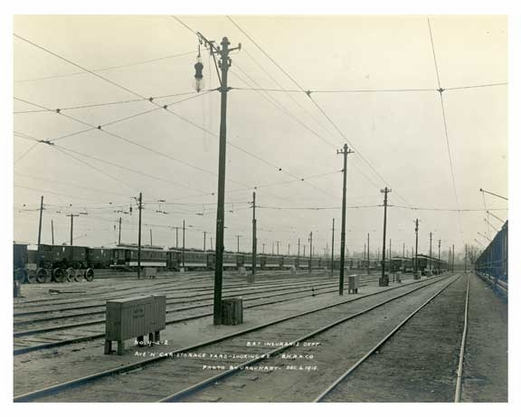 Flatbush Depot Yard Surface Car House Dec 6 1915 Ave K & East 49th Street