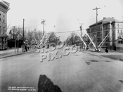 Fort Hamilton Parkway looking north at New Utrecht Avenue with PS 131, 1913