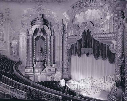 Fox Theater interior, stage from the balcony