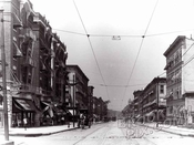 Franklin Avenue north from Eastern Parkway, 1915