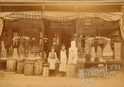 Frederick Lange's Grocery, c.1889; either 110 Wyckoff St., 588 Warren St., or 229 Hoyt Street (your choice