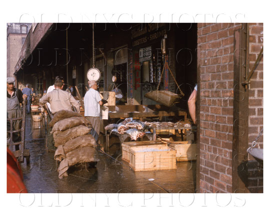 Fulton fish market manhattan 1964 classic big apple for Fulton fish market