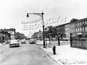 Fulton Street looking west at Lewis Avenue, 1956