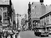 Fulton Street looking west to Elm Place, 1959