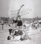 Fun at Brighton Beach, c.1950