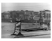 "Gas advertised as ""26 cents"" at 161st Street  Station  - Washington Heights -  Manhattan 1916"