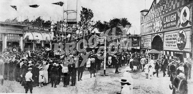 Golden City Amusement Park at the Canarsie Shore in 1922