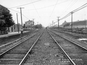 Gravesend (McDonald) Avenue looking north to Avenue T, Gravesend Racetrack on right, 1915