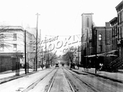 Greene Avenue, east from Clinton Avenue toward Waverly Avenue, 1915